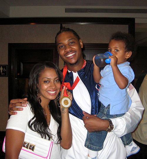 Newlyweds Carmello Anthony & LaLa Vasquez stopped by