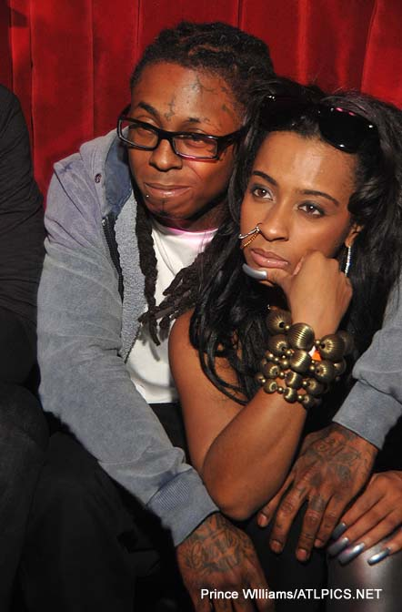 pictures of lil wayne girlfriend. that Lil Wayne partied it