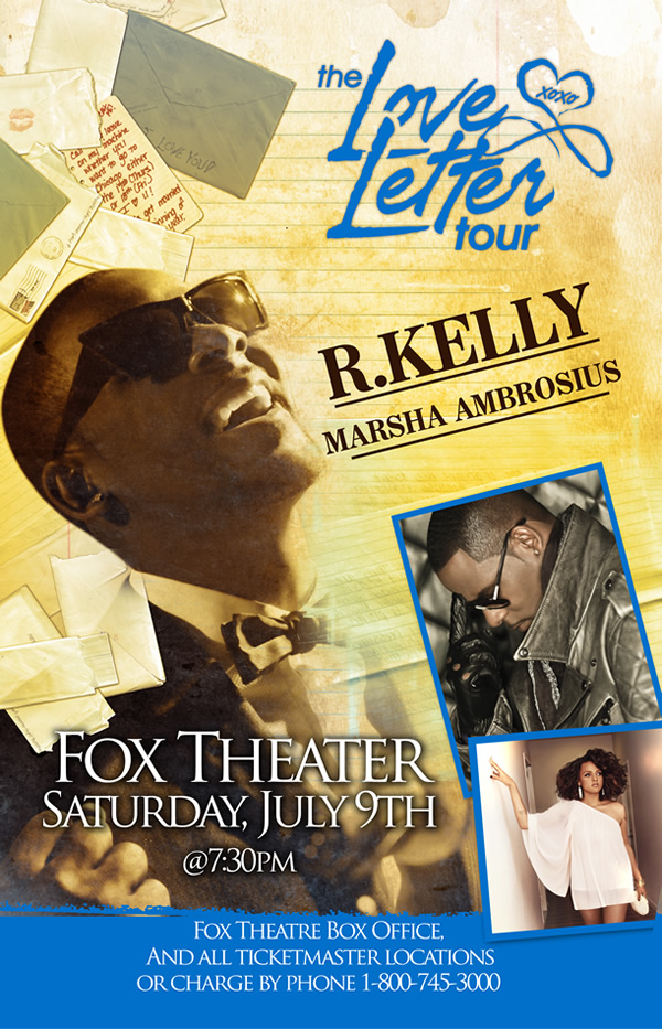"R. KELLY BRINGS HIS ""LOVE LETTER TOUR"" TO THE U.S."