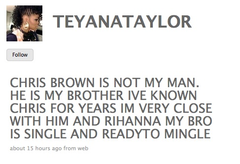 teyana taylor and chris brown. teyana-taylor-twitter-message