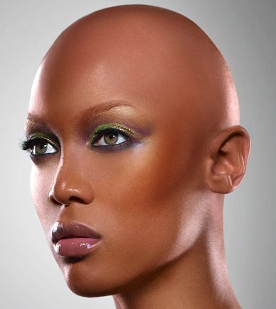 shaved headed women catwalks hollow perfectionism aspects beautiful facially bald supermodel